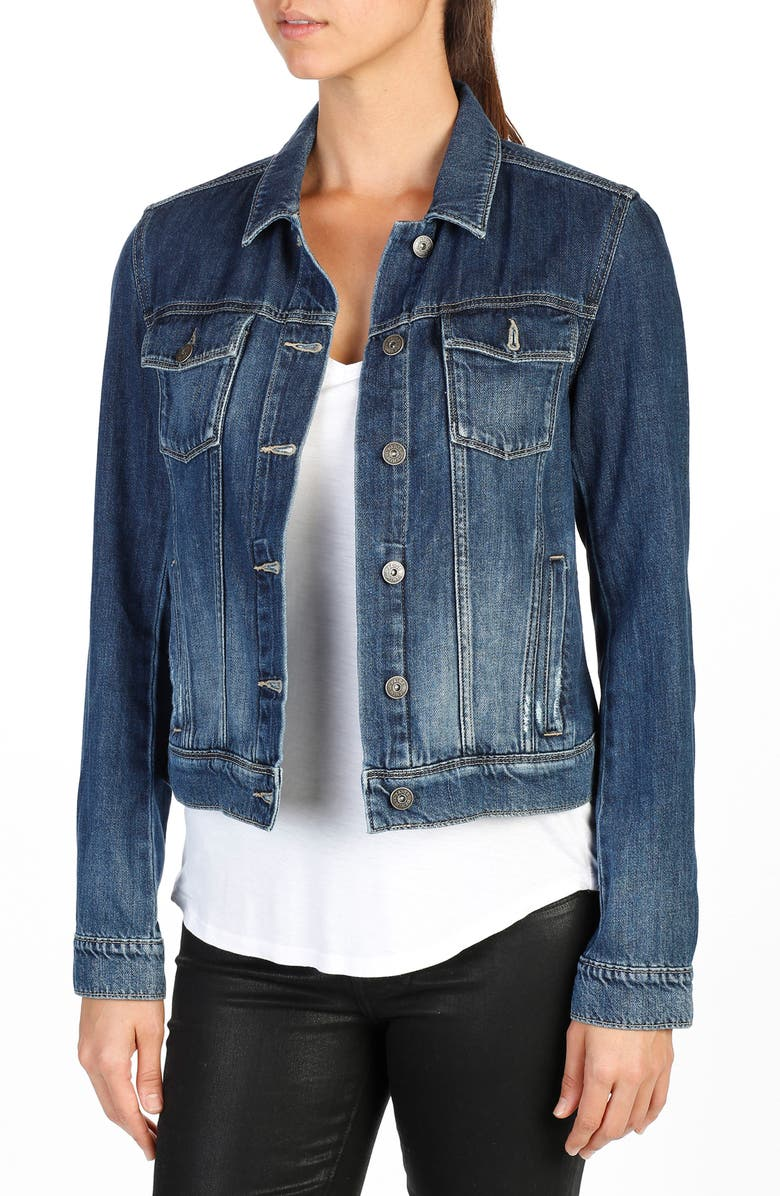 PAIGE Rowan Denim Jacket, Main, color, 400