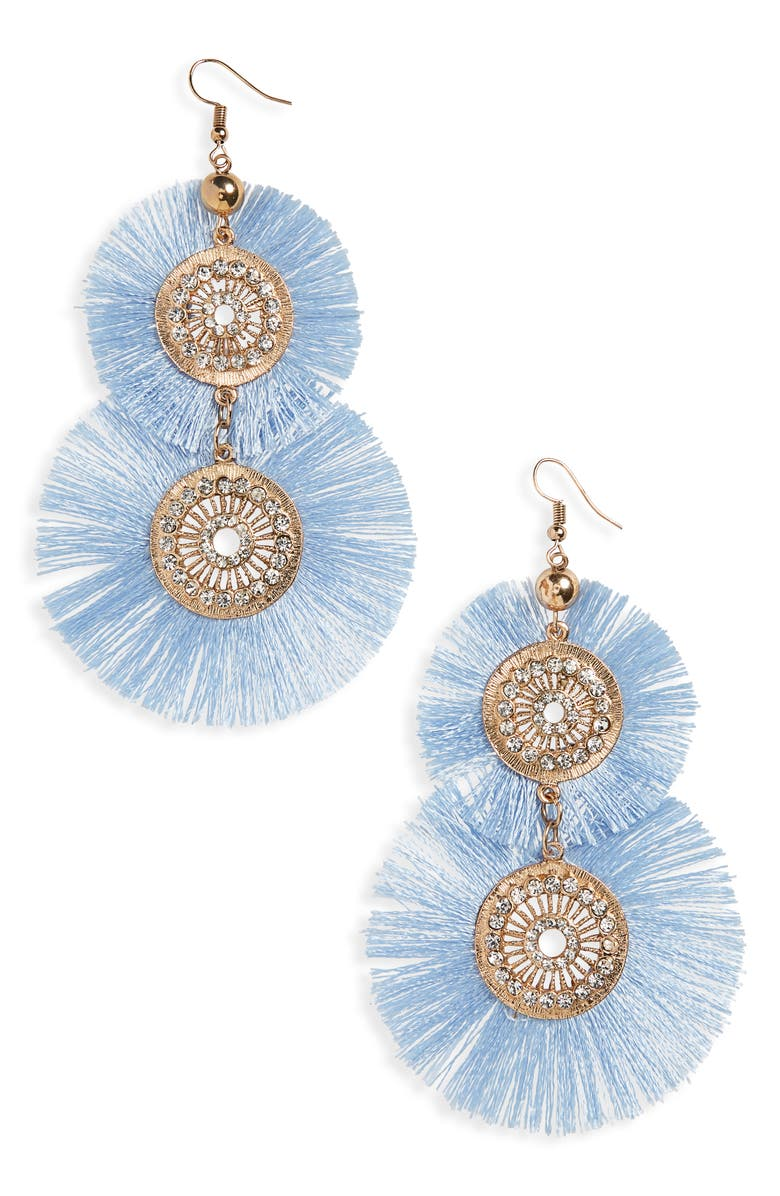 BP. Fringe Disc Earrings, Main, color, 710