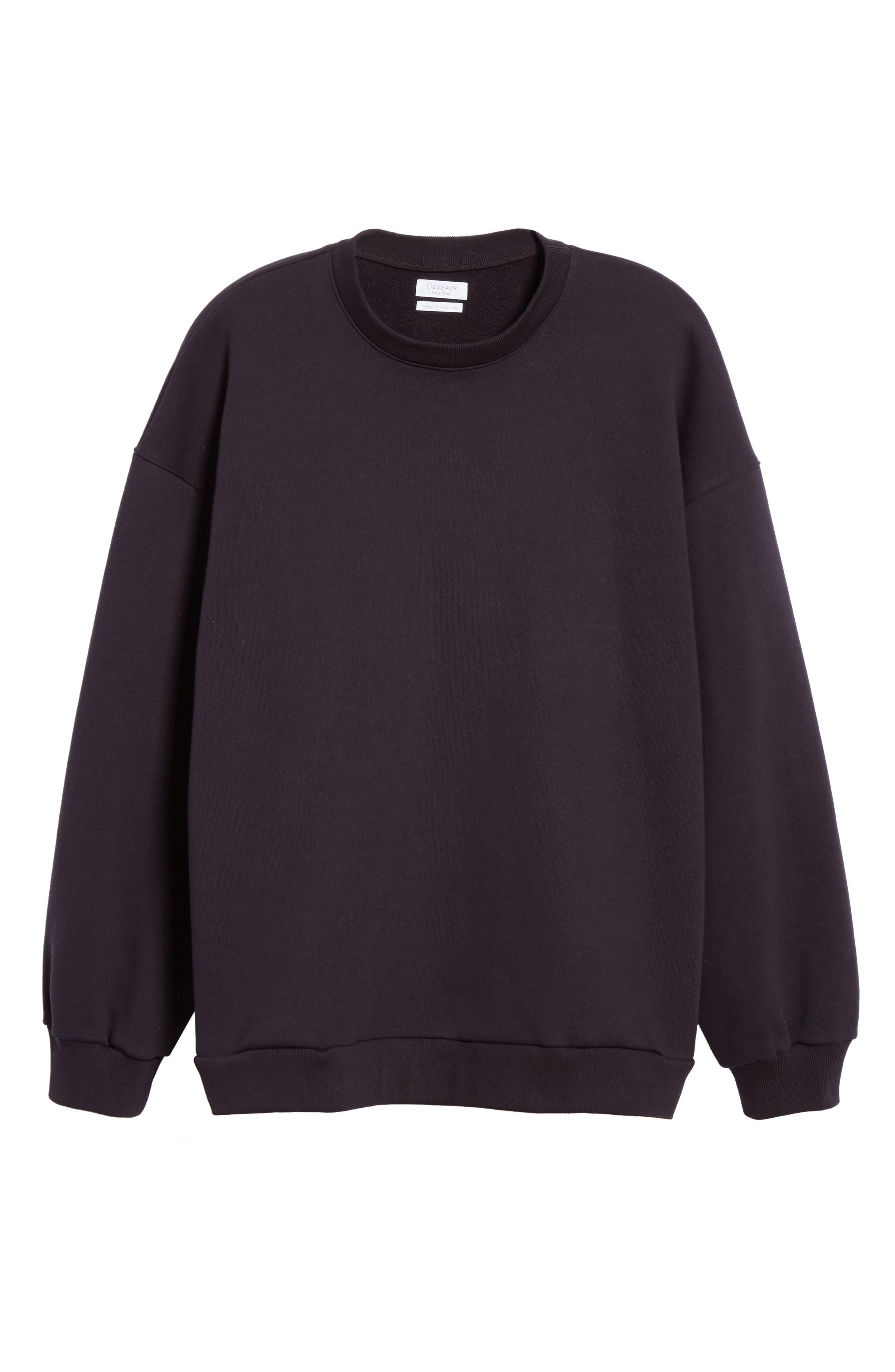 ,                             Oversize Crewneck Sweatshirt,                             Alternate thumbnail 6, color,                             410