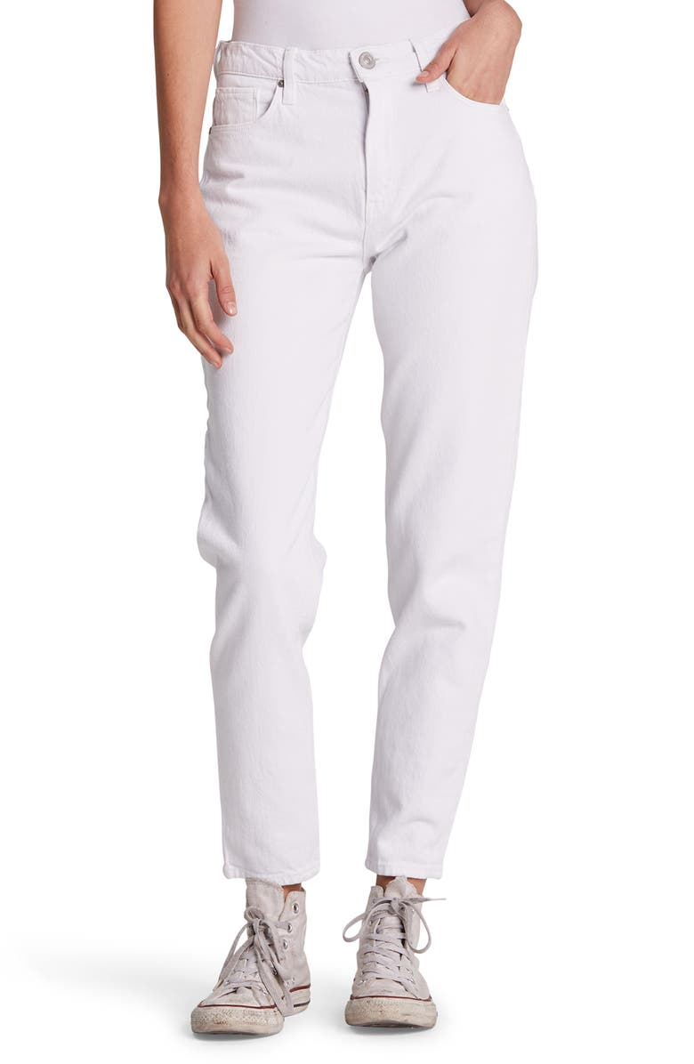 HUDSON JEANS Bettie High Waist Tapered Jeans, Main, color, WHITE