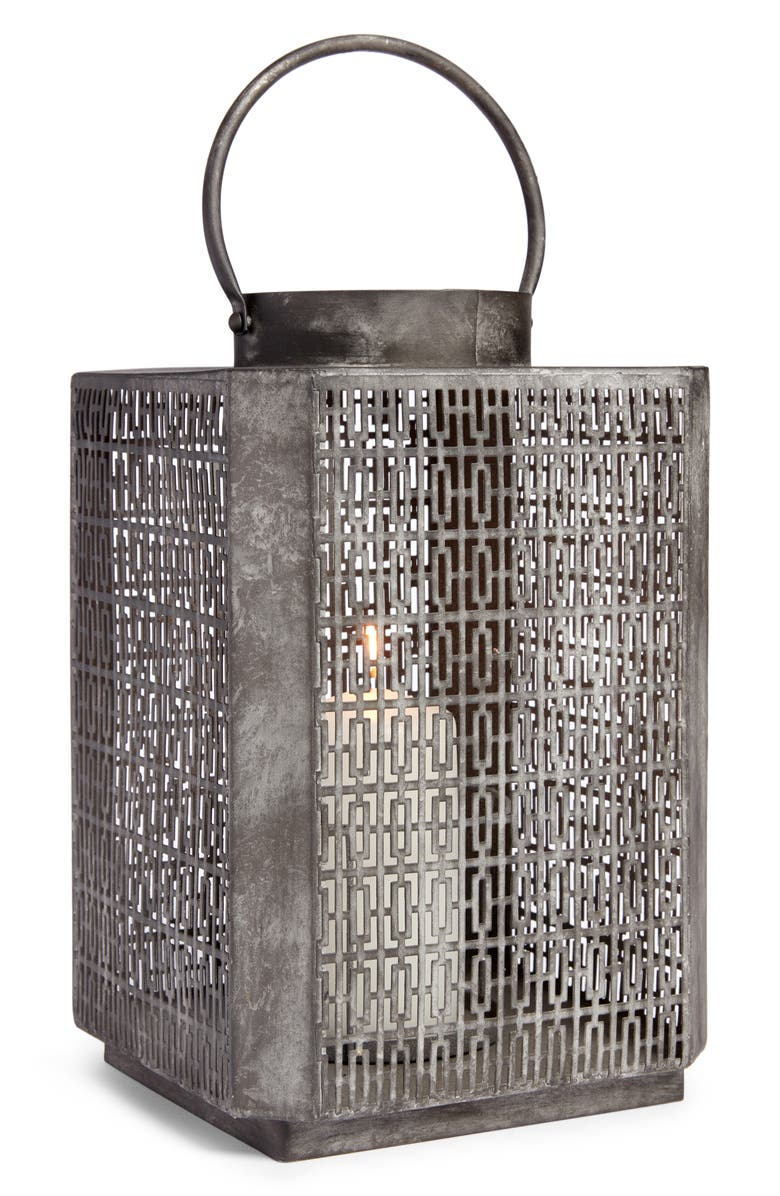ALLSTATE Metal Lantern, Main, color, GREY