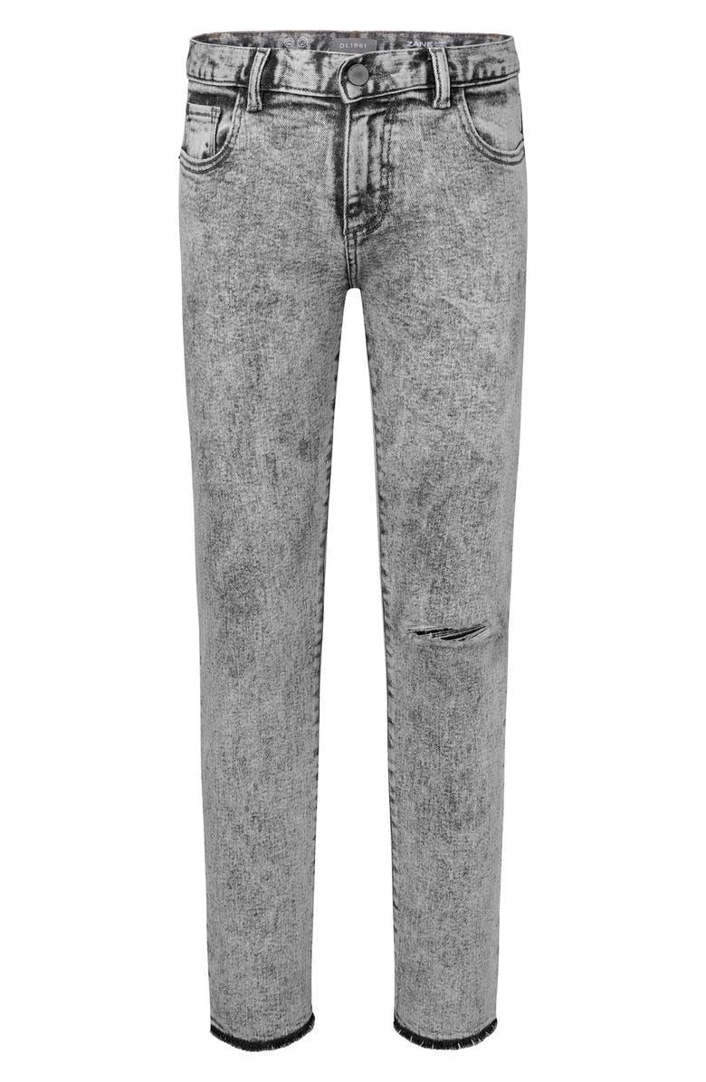 DL1961 Zane Acid Wash Skinny Jeans, Main, color, 020