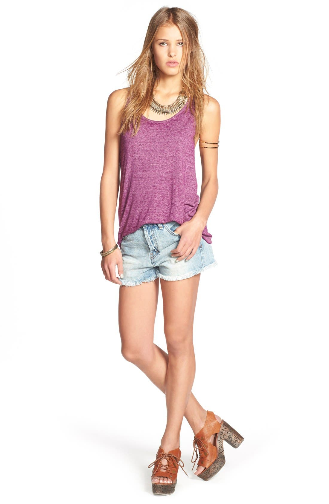 ,                             'Uptown' Denim Shorts,                             Alternate thumbnail 27, color,                             488