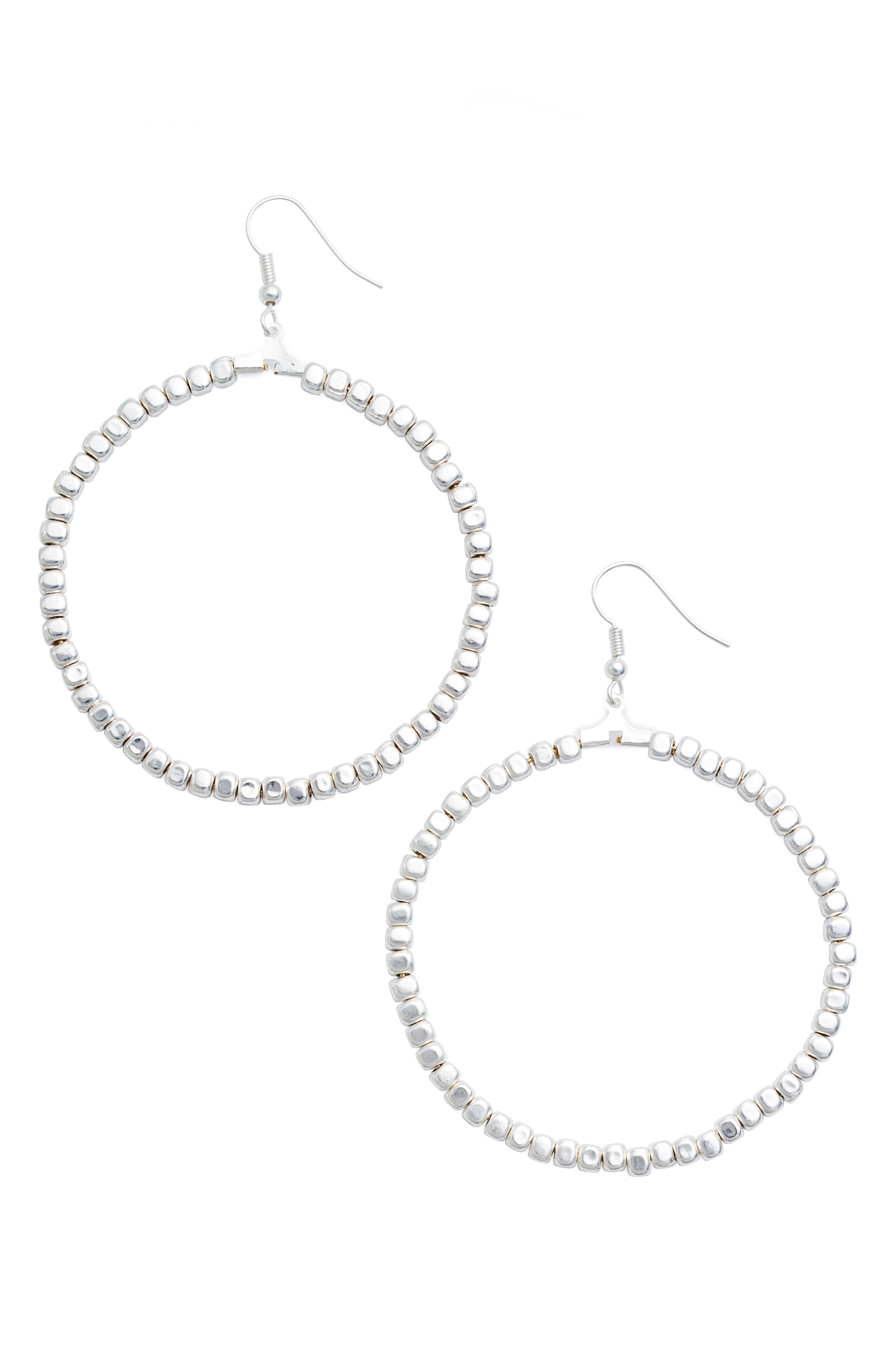 Ava Beaded Hoop Earrings