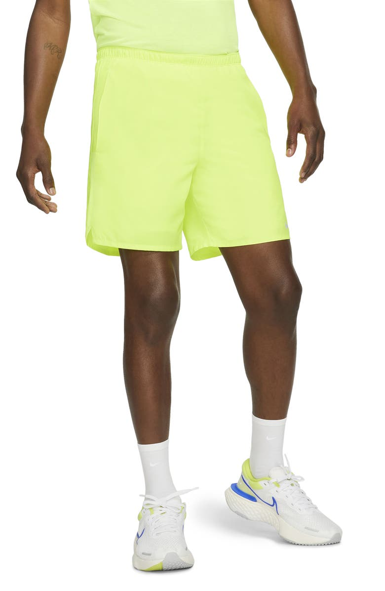 NIKE Dri-FIT Challenger 2-in-1 Running Shorts, Main, color, VOLT