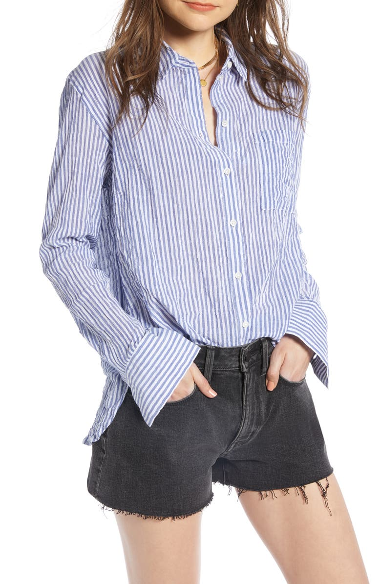 TREASURE & BOND Breezy Boyfriend Shirt, Main, color, 401