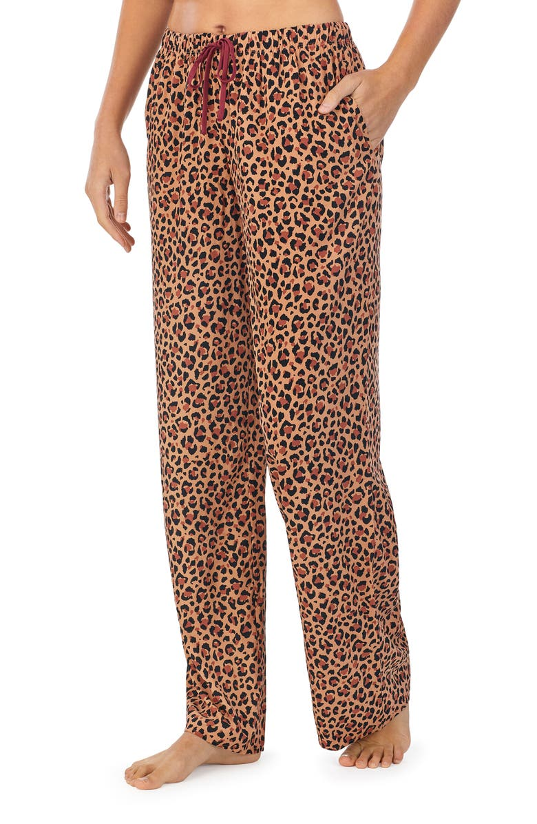 REFINERY29 Elsa Woven Pajama Pants, Main, color, TAN PRINT