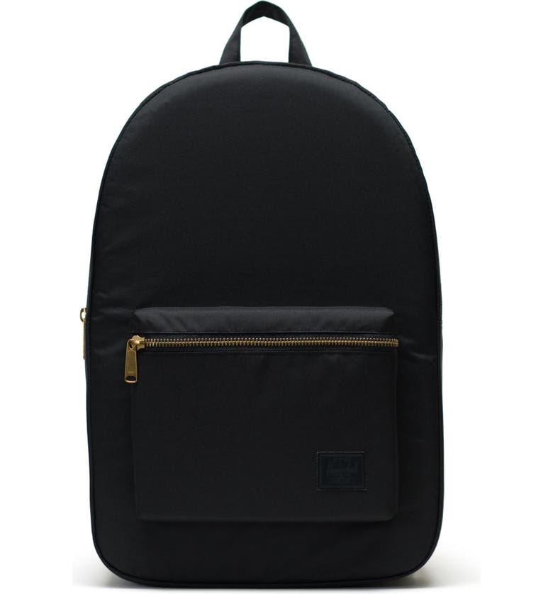 HERSCHEL SUPPLY CO. Settlement Light Backpack, Main, color, BLACK