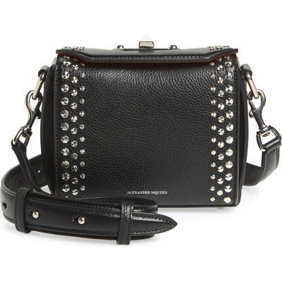 Alexander Mcqueen Box Bag 16 Studded Leather Bag - Black