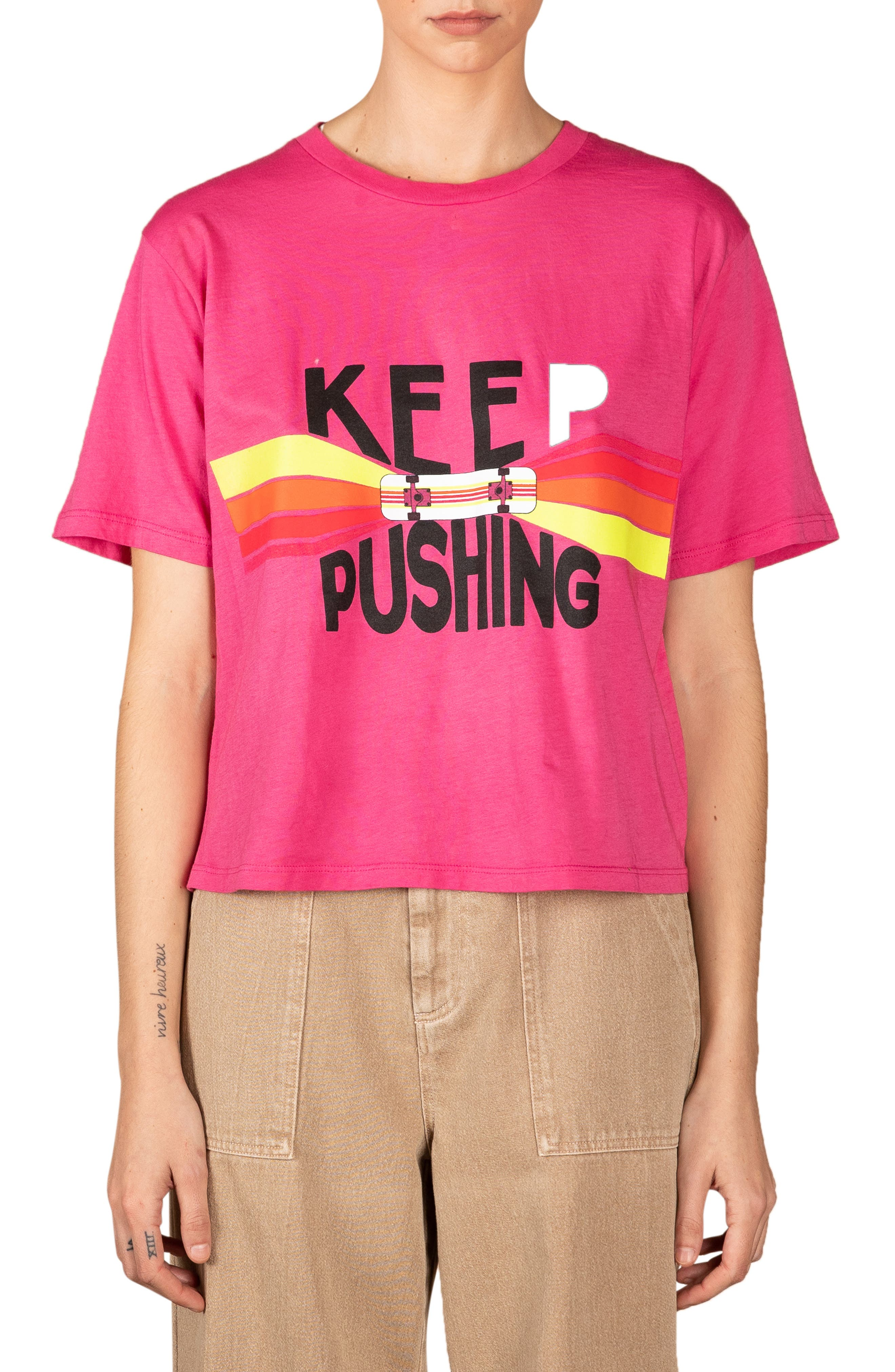 Keep Going Cotton Graphic Tee