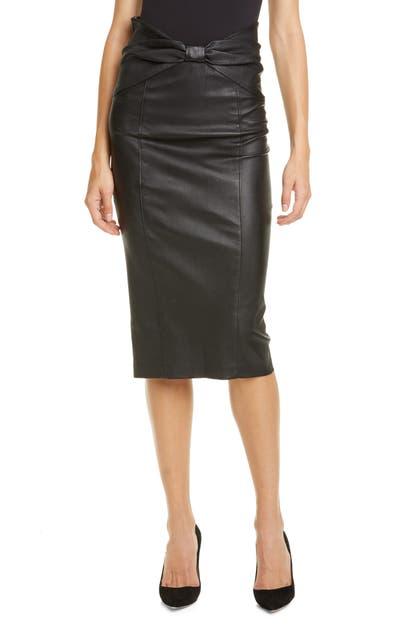 Veronica Beard Skirts CARLYN LEATHER PENCIL SKIRT