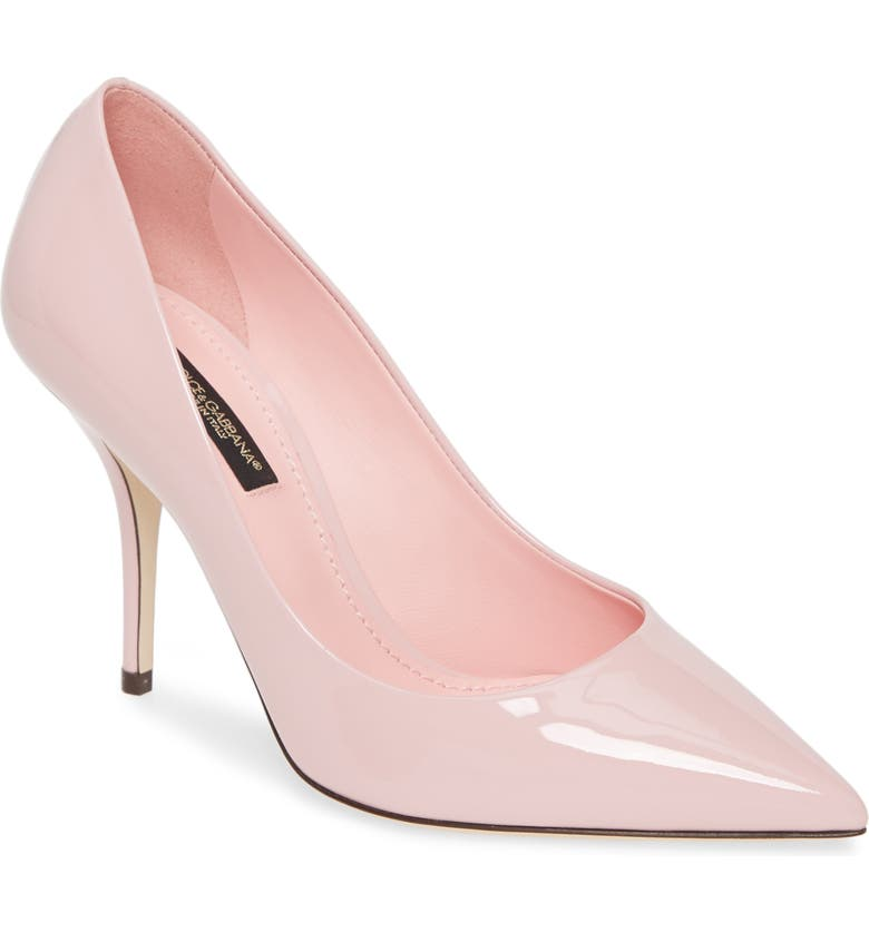 DOLCE&GABBANA Pointy Toe Pump, Main, color, PINK