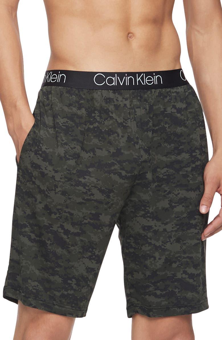 CALVIN KLEIN Stretch Modal Sleep Shorts, Main, color, 302