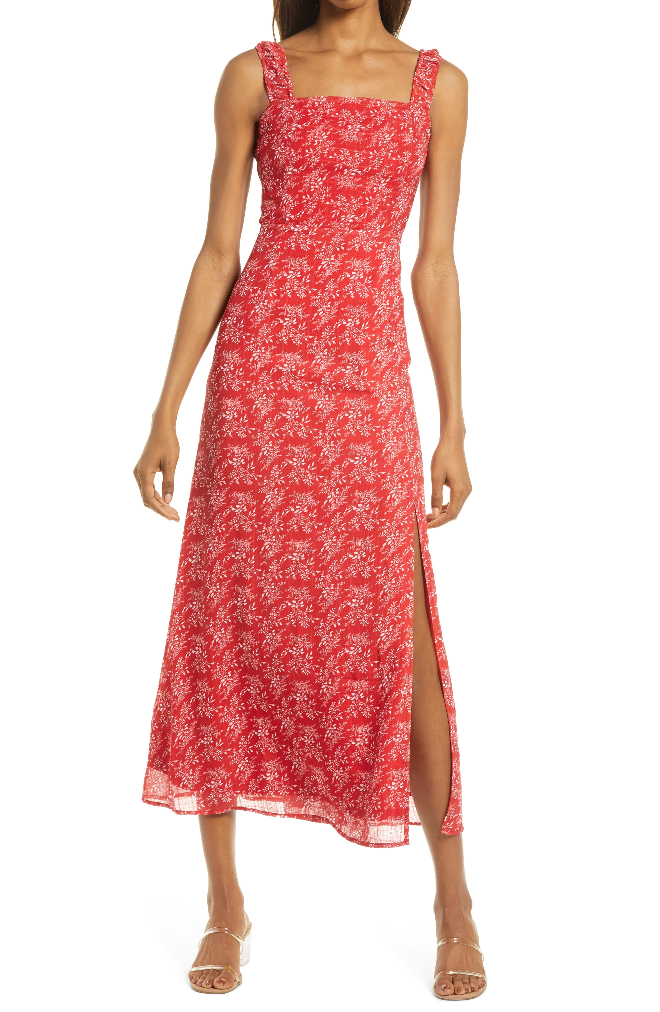 Back To Backless Floral Print Sleeveless Dress