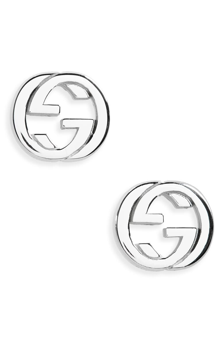 GUCCI Interlocking Stud Earrings, Main, color, 040