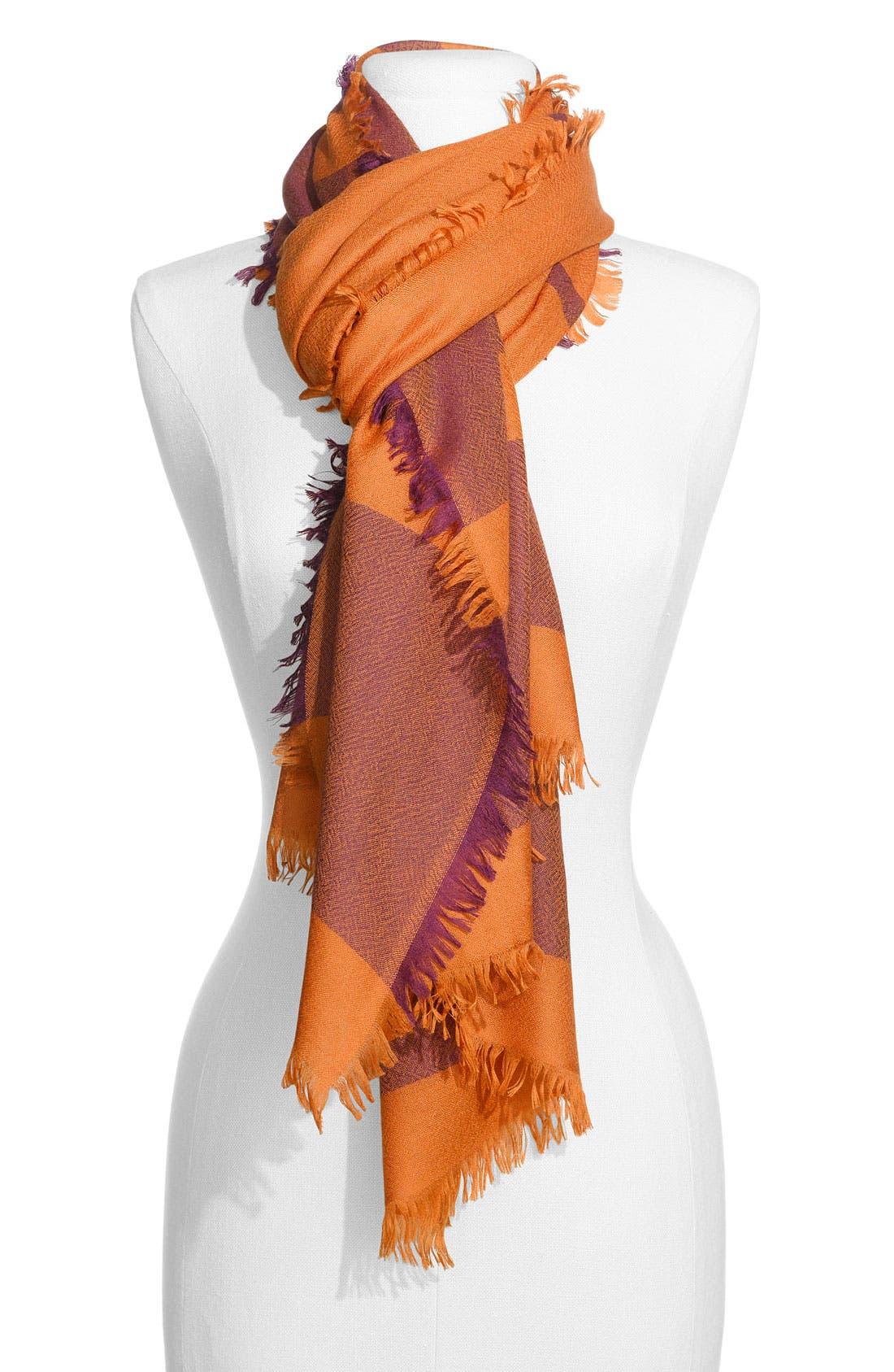 ,                             'Eyelash' Colorblock Cashmere Wrap,                             Main thumbnail 108, color,                             801