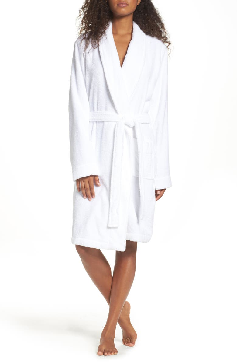NORDSTROM LINGERIE Terry Robe, Main, color, WHITE