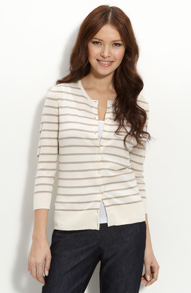 HALOGEN<SUP>®</SUP> Stripe Cardigan, Main, color, 900