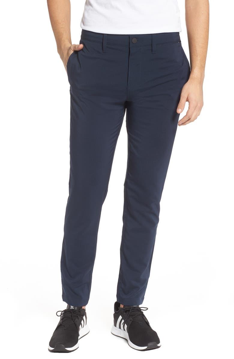 ZELLA Hybrid Tech Commuter Pants, Main, color, NAVY HALITE