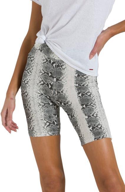 Image of n:PHILANTHROPY Hale Snake Skin Print Biker Shorts