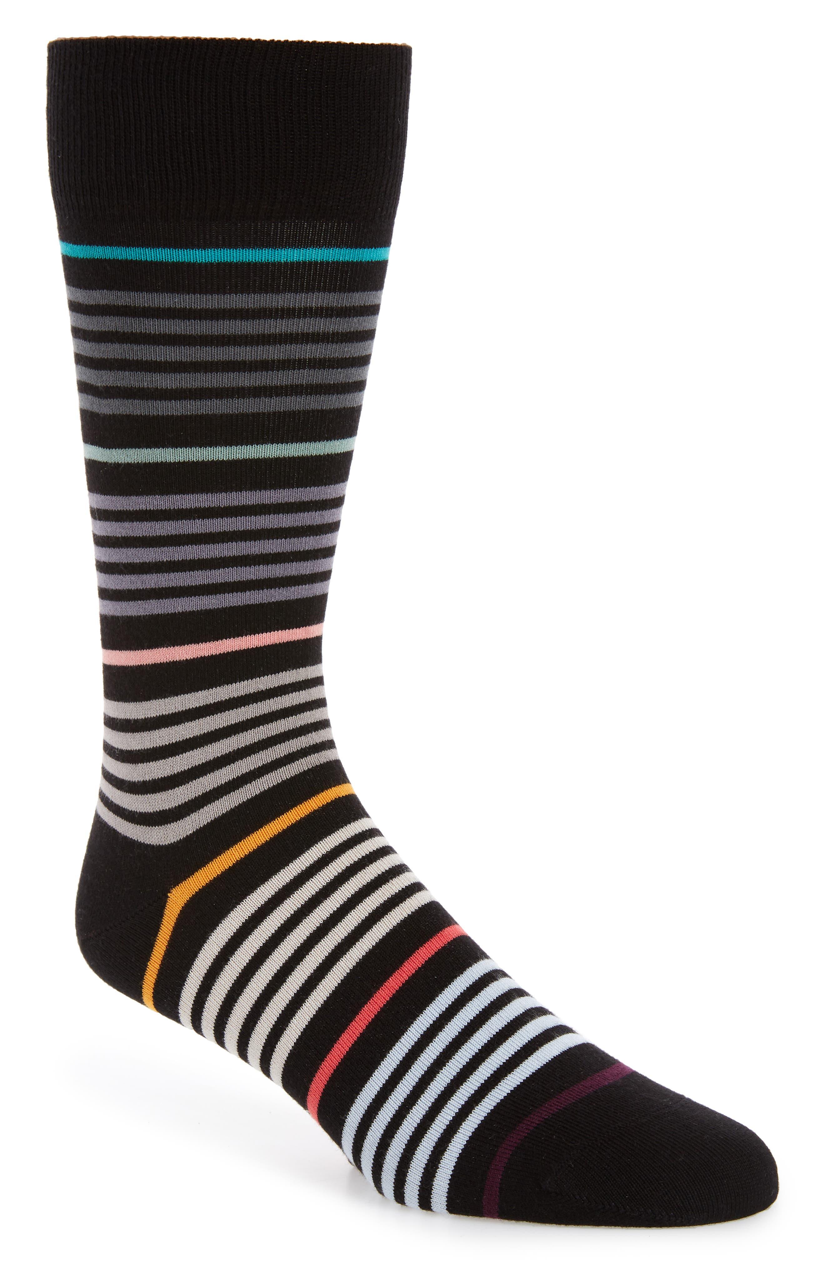 Vita Grade Socks, Main, color, BLACK