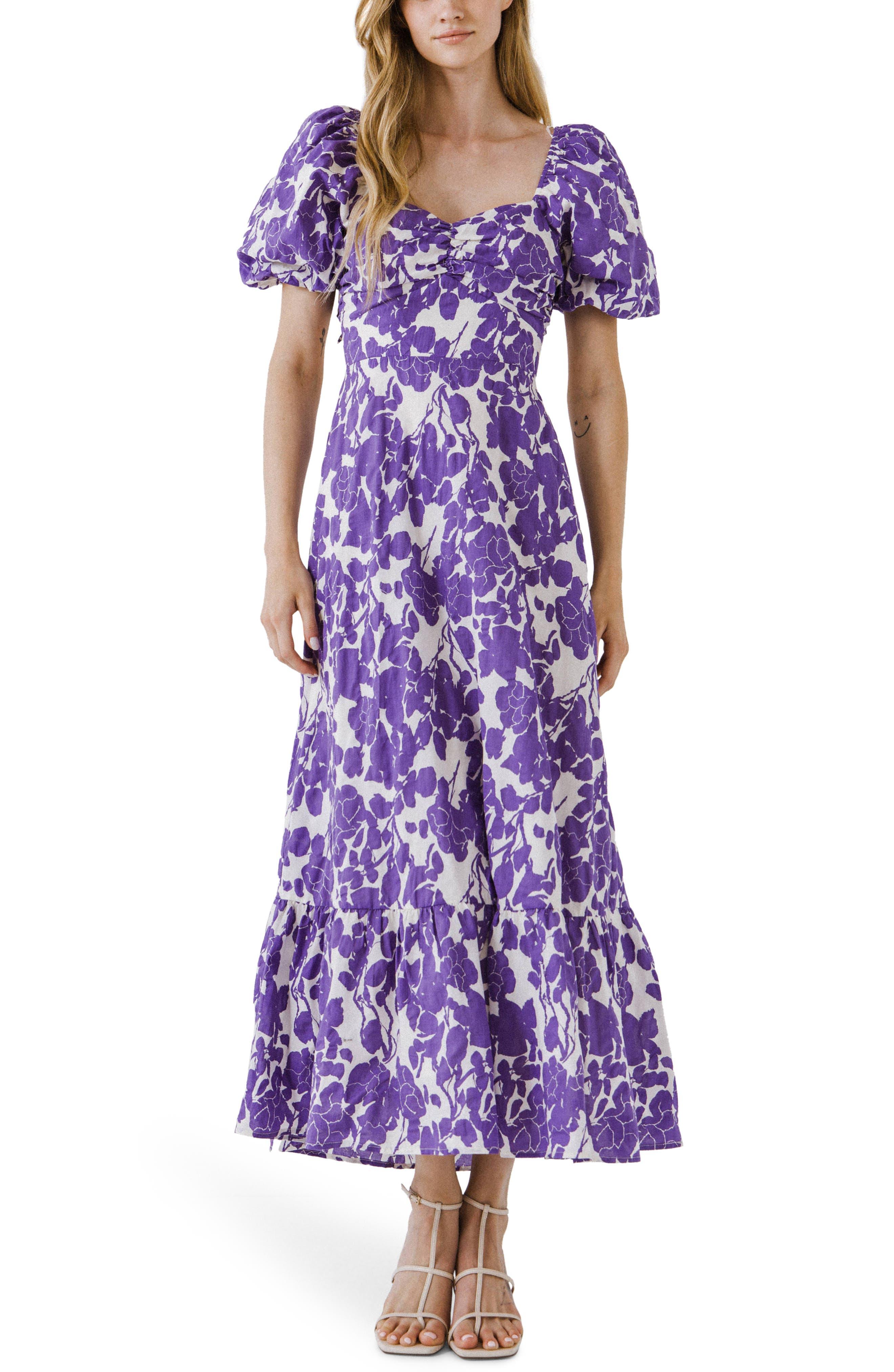 Floral Print Cotton Maxi Dress