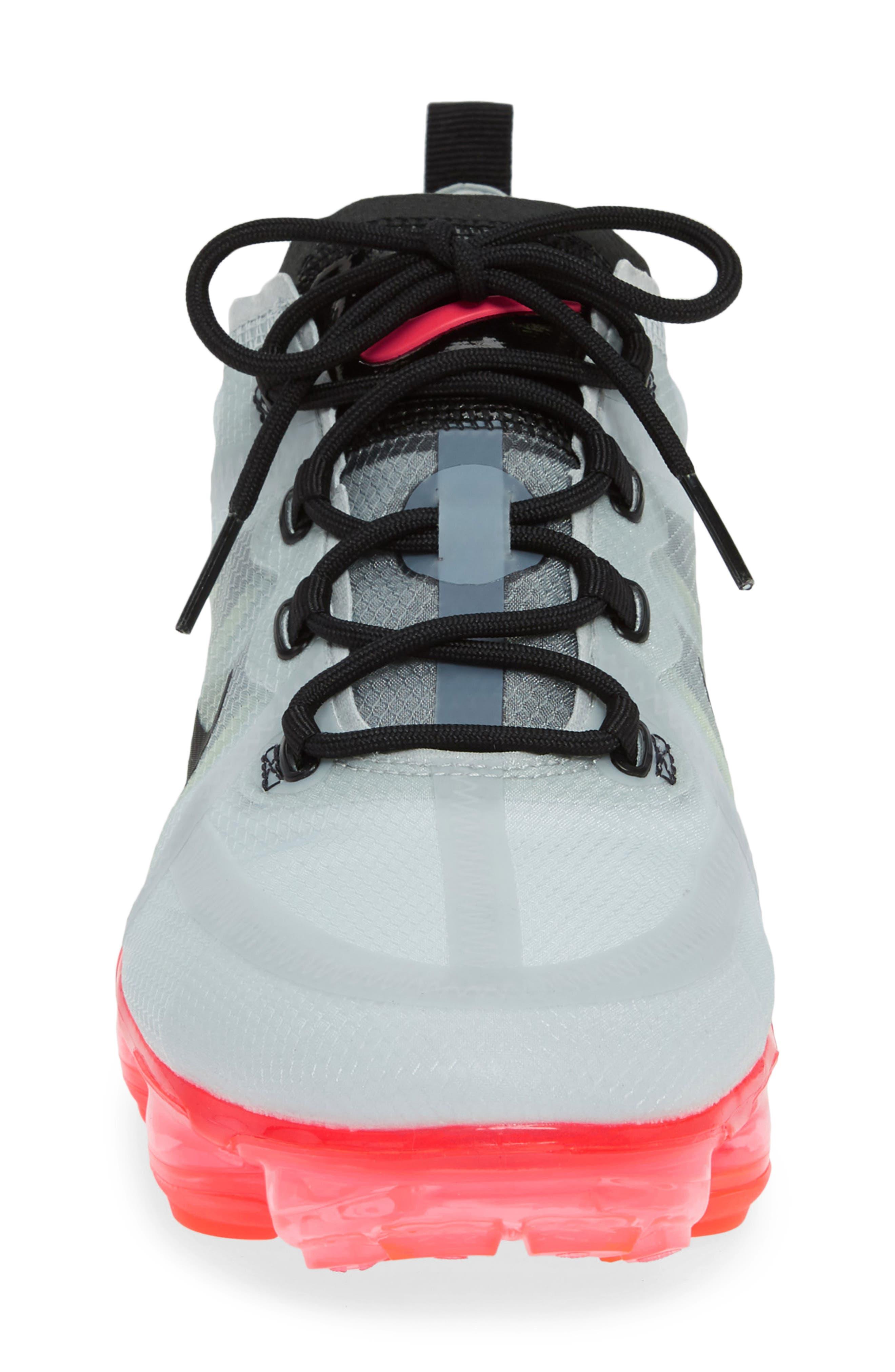 ,                             Air VaporMax 2019 Running Shoe,                             Alternate thumbnail 4, color,                             PURE PLATINUM/ BLACK/ VOLT