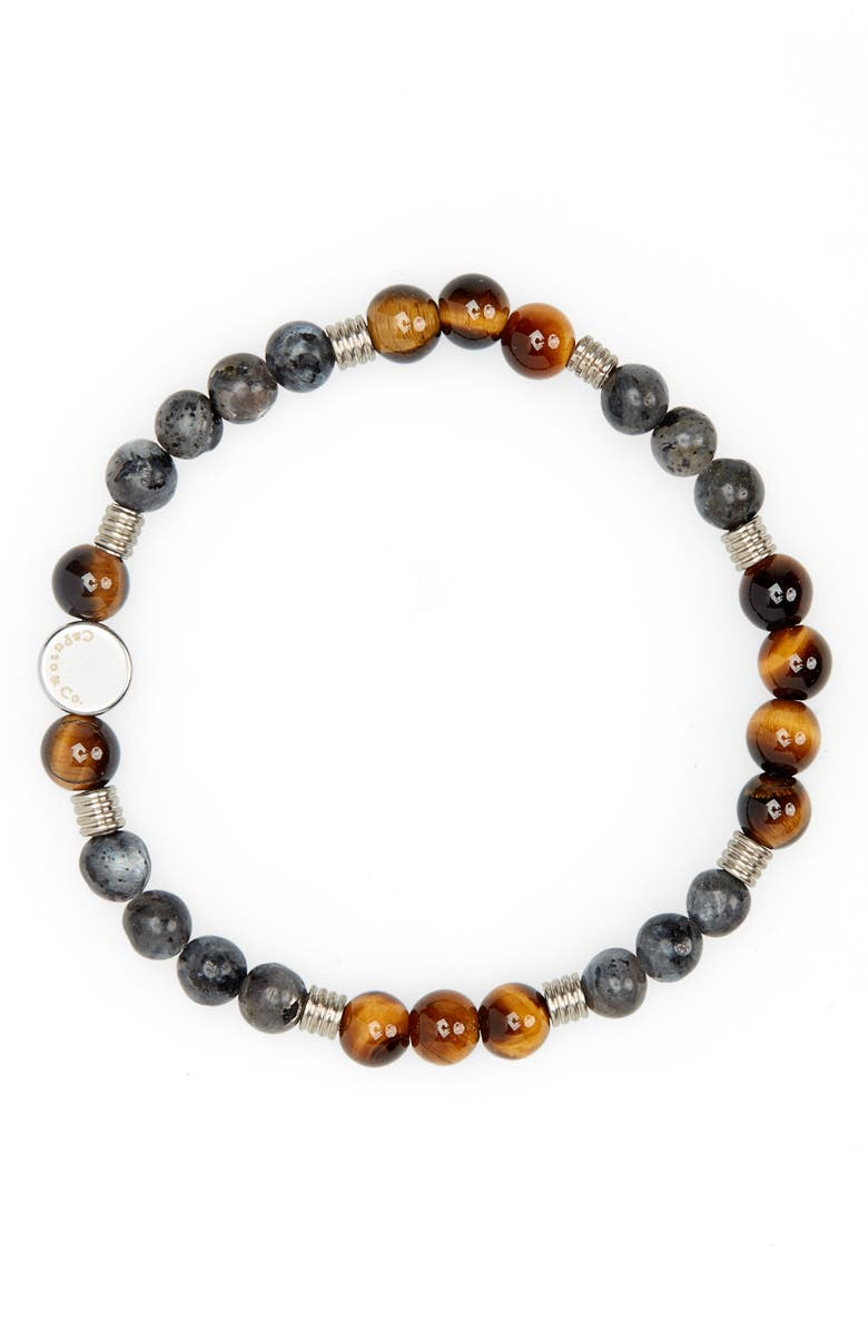 CAPUTO & CO. Labradorite Bead Bracelet, Main, color, BLACK LABRADORITE