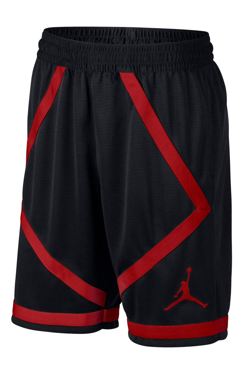 JORDAN Dry Taped Basketball Shorts, Main, color, BLACK/ GYM RED/ GYM RED