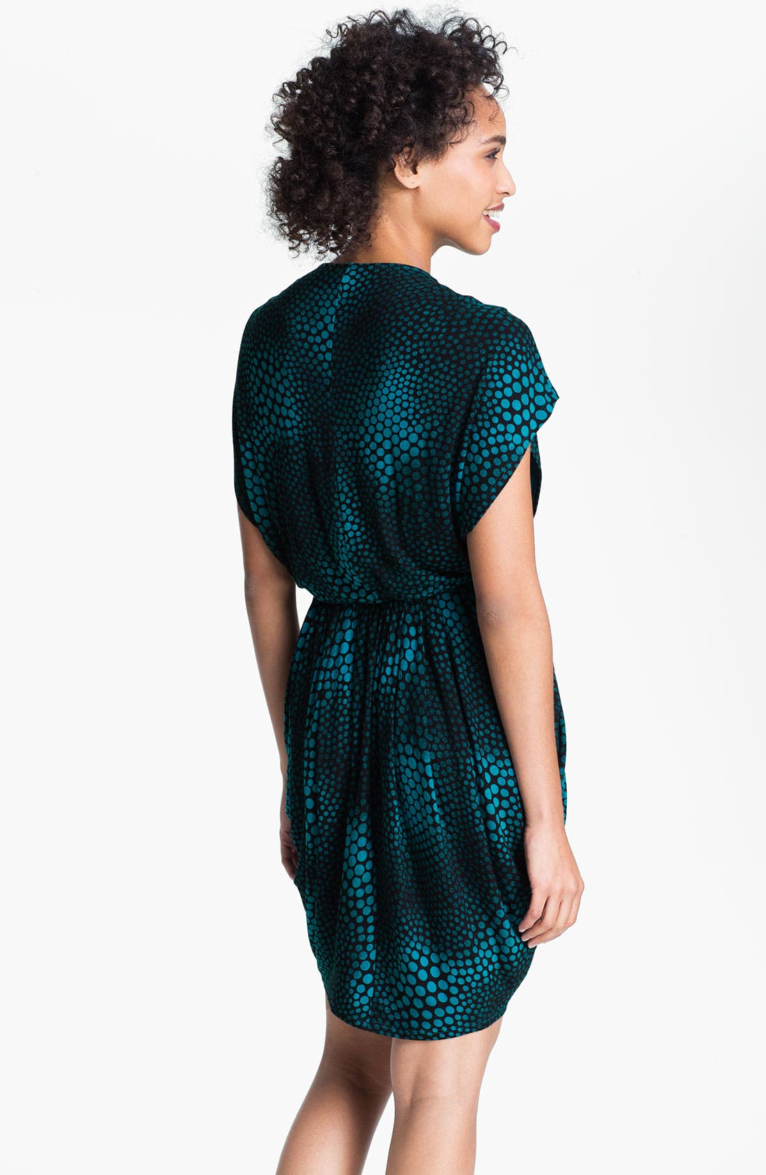 ,                             Faux Wrap Pleated Dress,                             Alternate thumbnail 9, color,                             400