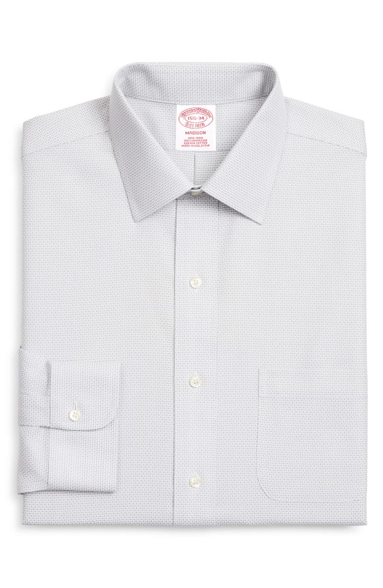 BROOKS BROTHERS Madison Classic Fit Check Dress Shirt, Main, color, 025