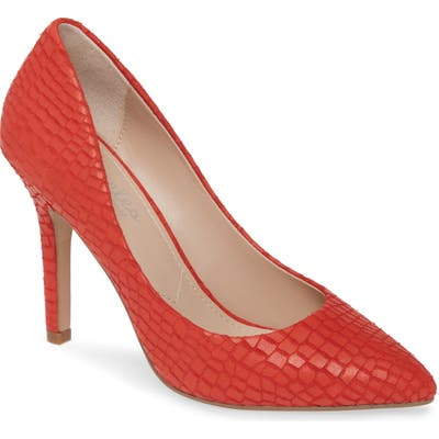 Charles By Charles David Maxx Pointy Toe Pump, Red