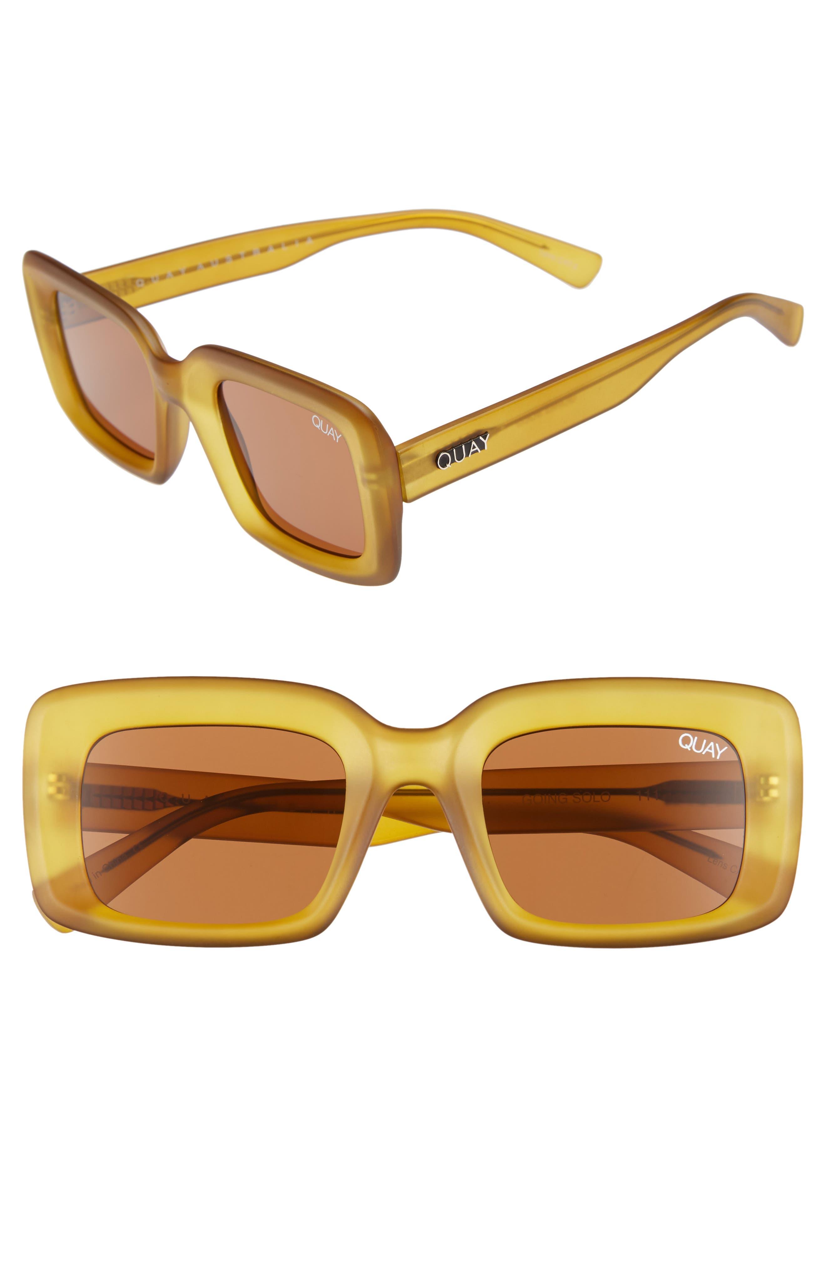 Quay Australia Going Solo 4m Square Sunglasses - Olive/ Brown