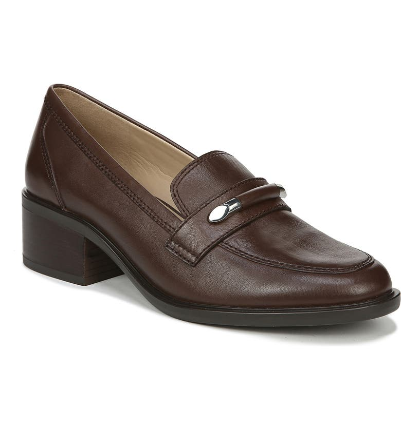 NATURALIZER Perla Loafer, Main, color, CHOCOLATE LEATHER