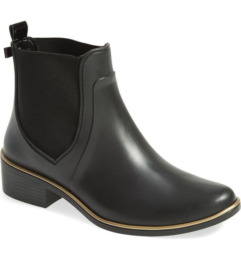 KATE SPADE NEW YORK 'sedgewick' rubber rain boot, Main, color, 001