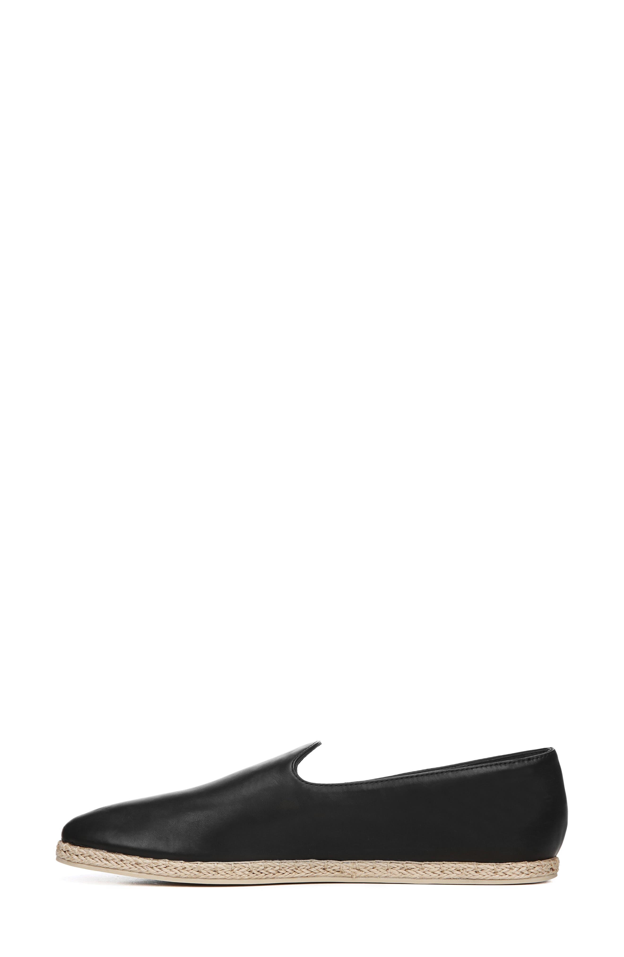 ,                             Malia Loafer Flat,                             Alternate thumbnail 9, color,                             BLACK LEATHER