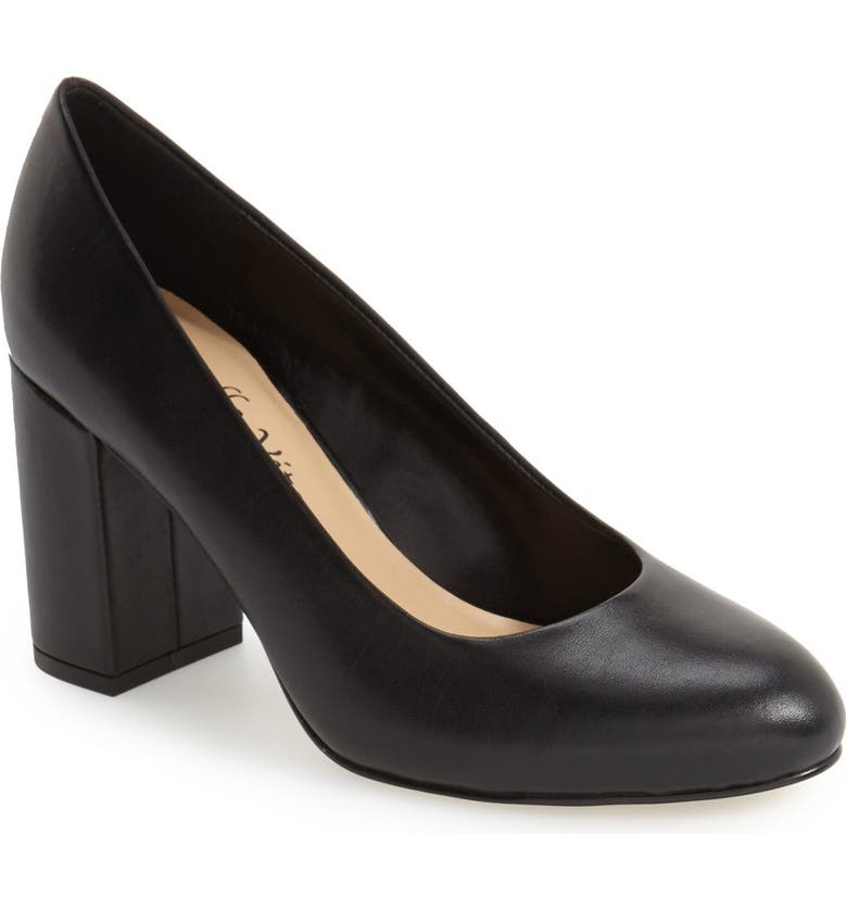 BELLA VITA 'Nara' Block Heel Pump, Main, color, BLACK LEATHER