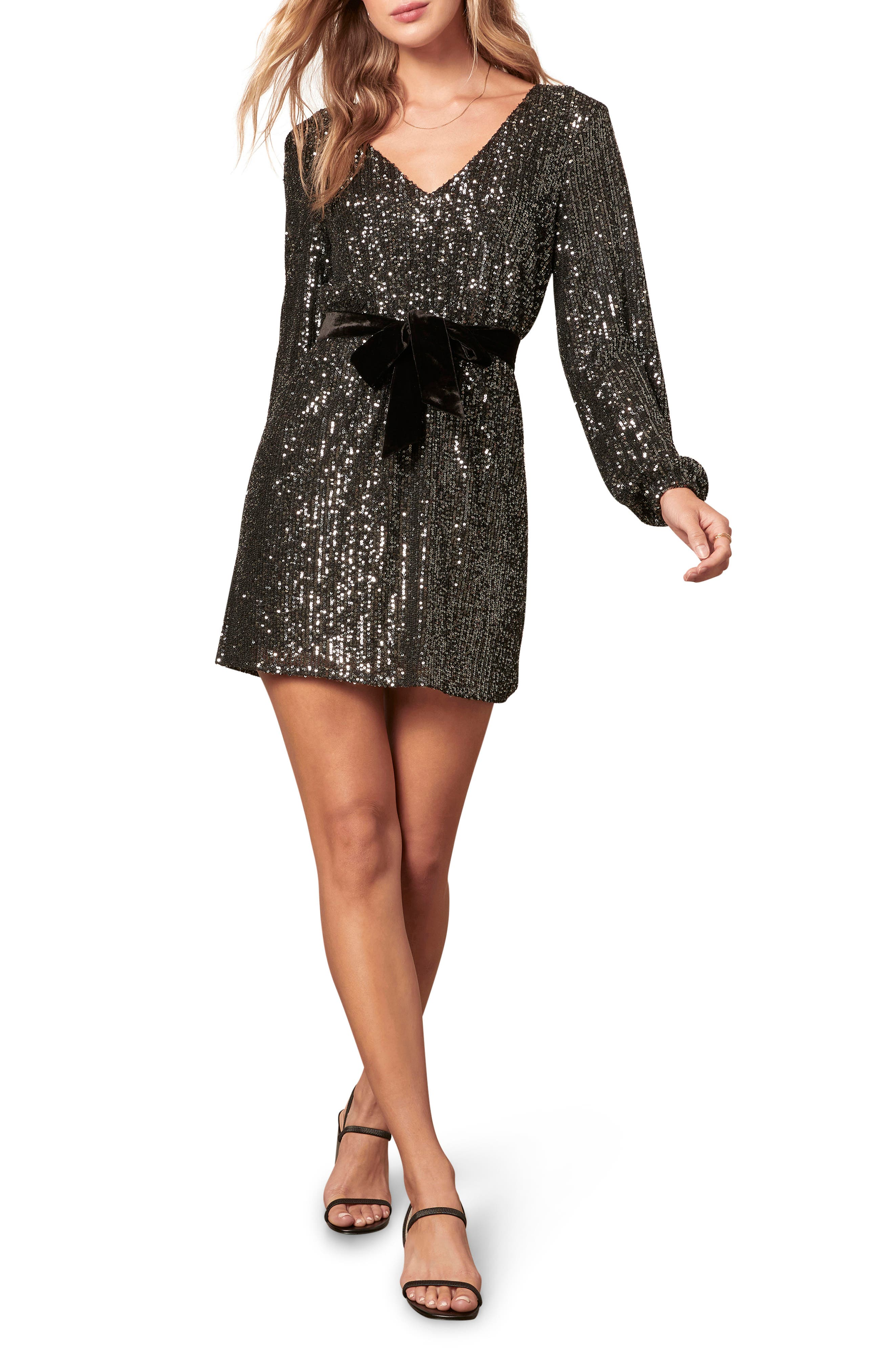 Image of BB Dakota Glow Up Fast Sequin Shift Dress