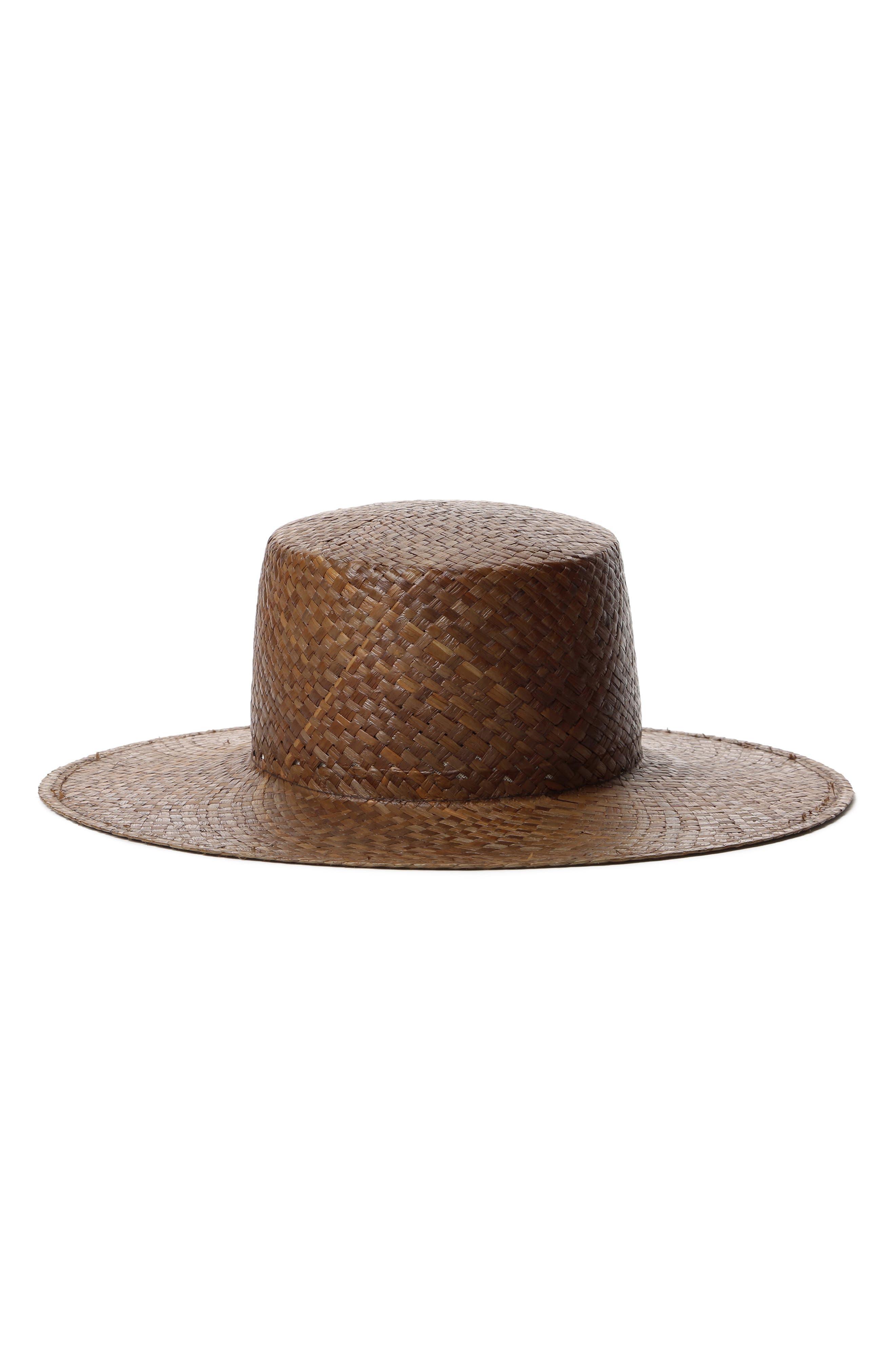 Gina Straw Boater Hat