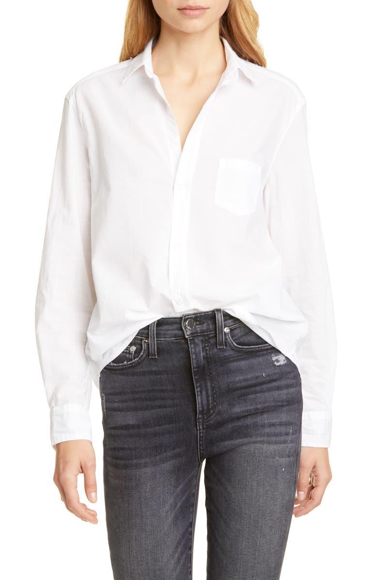 FRANK & EILEEN Eileen Casual Cotton Shirt, Main, color, WHITE