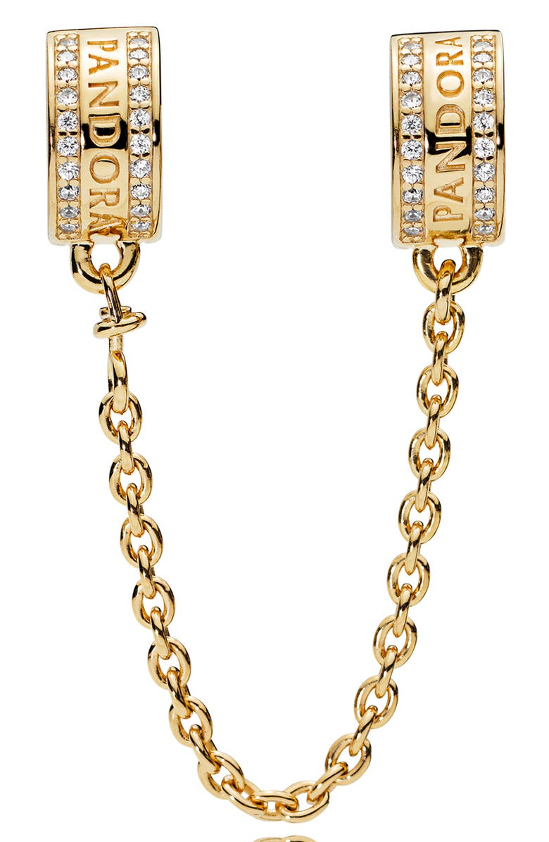 PANDORA Shine Insignia Safety Chain, Main, color, GOLD