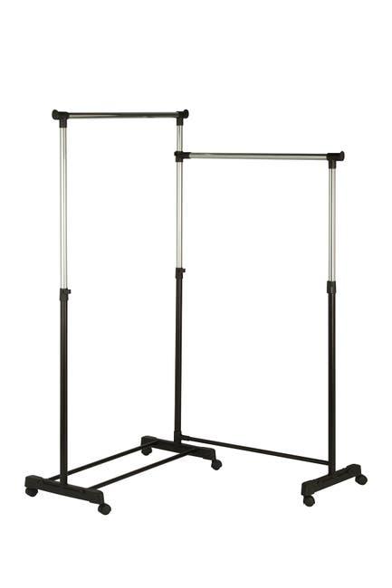 Image of Honey-Can-Do Dual Bar Corner Garment Rack