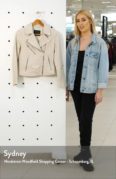 Riley Leather Moto Jacket, sales video thumbnail