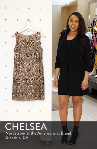 Sequin Embellished Cocktail Minidress, sales video thumbnail