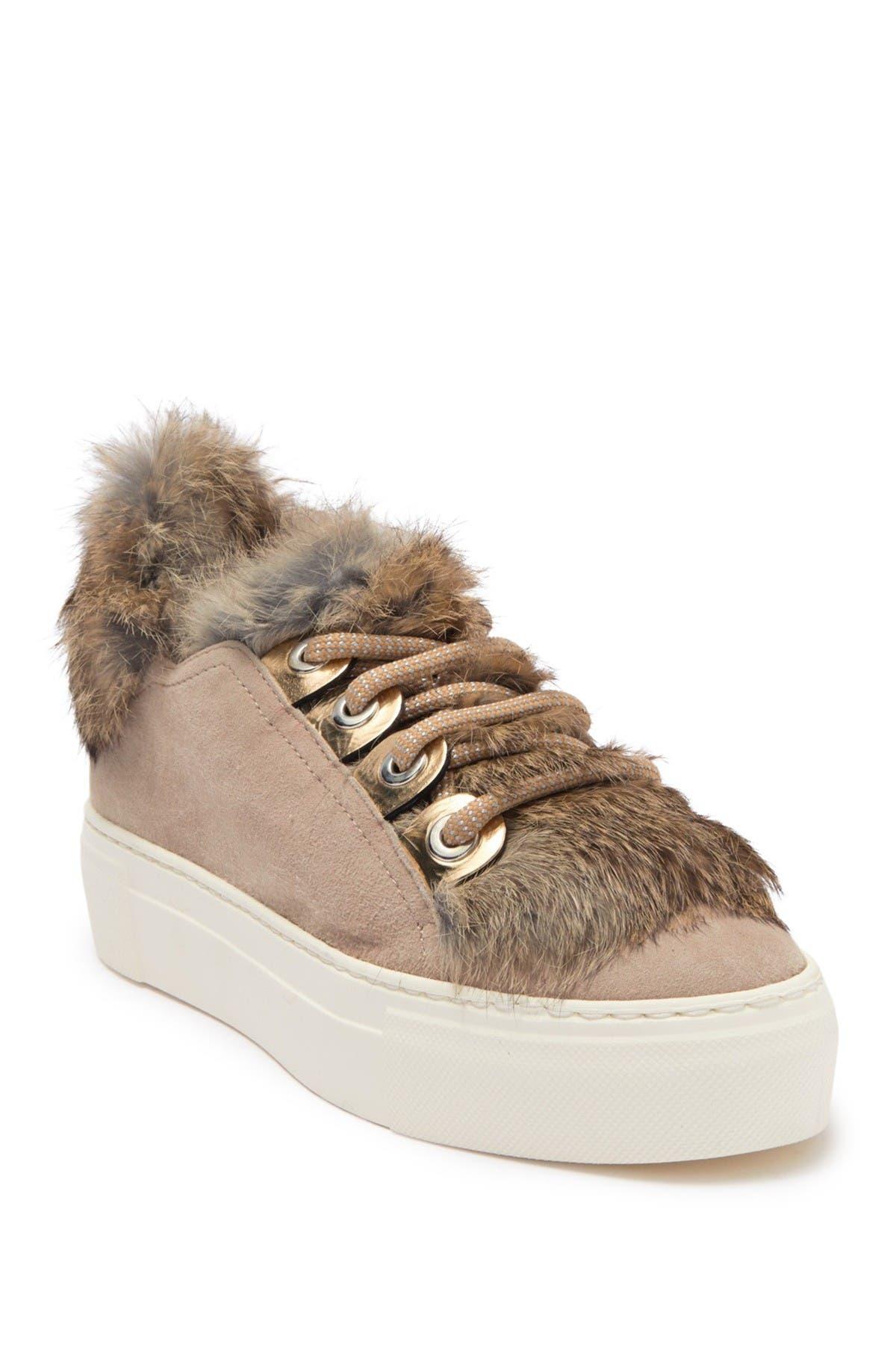 Image of AGL Genuine Sheep Fur Platform Sneaker