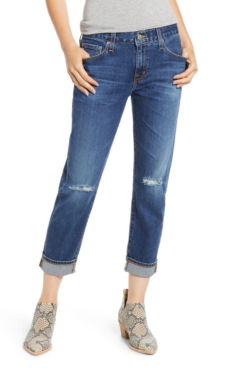 AG Ex-Boyfriend Relaxed Slim Jeans, Main, color, 11 YEARS INDIGO STRIKE