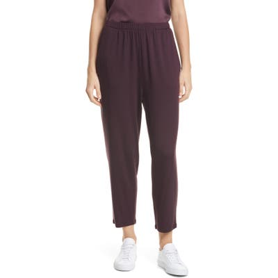 Petite Eileen Fisher Slouchy Ankle Pants, Purple
