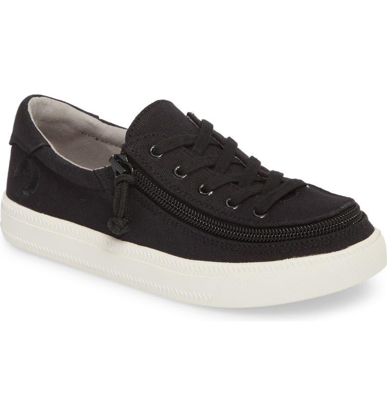 BILLY FOOTWEAR Classic Zip Around Low Top Sneaker, Main, color, BLACK