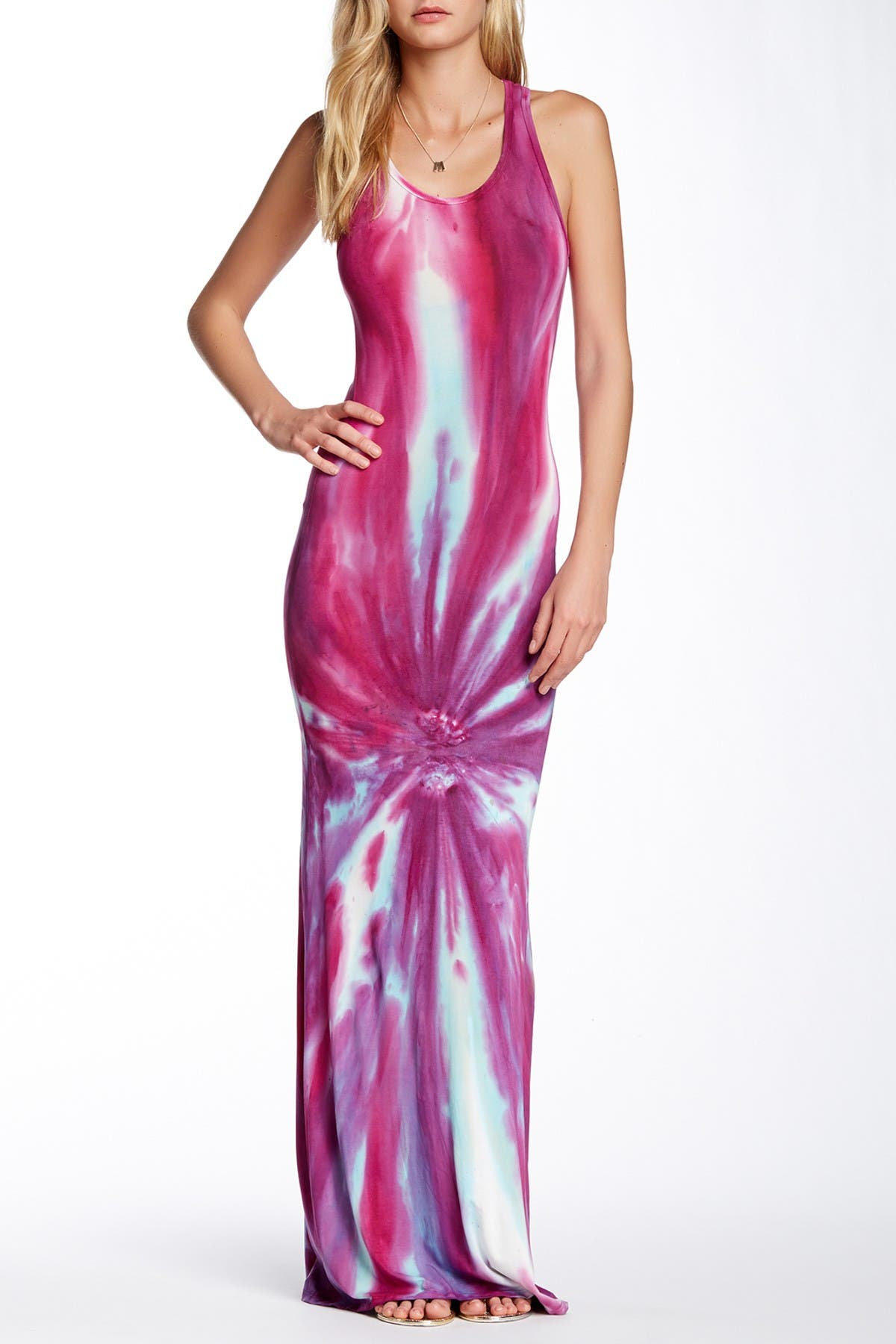 Image of Go Couture Tie-Dye Maxi Dress