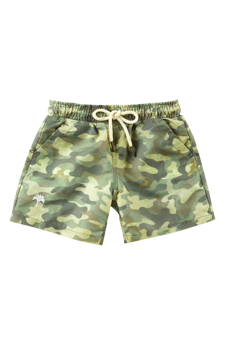 OAS Swim Camo Swim Trunks, Main, color, MILITARY GREEN